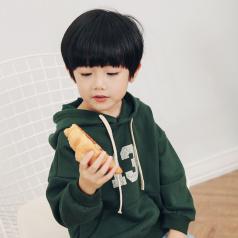 (需订货)Poniponchi2017新款秋冬男童带帽舒适卫衣#07