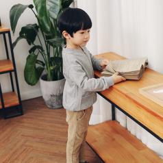 (需订货)Poniponchi2017新款男童带拉链舒适长袖卫衣#12