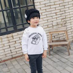 (需订货)Poniponchi2017新款男童舒适印字母卫衣#64