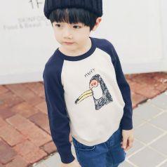 PONIPONCHI 圆领时尚拼袖毛衣 J007#