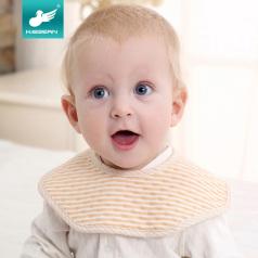可思贝婴儿按扣围嘴口水巾360度旋转新生儿宝宝儿童吃饭纯棉围兜