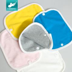 可思贝新生婴儿纯棉按扣口水巾宝宝喂奶擦嘴吮吸带棉毛巾四季通用