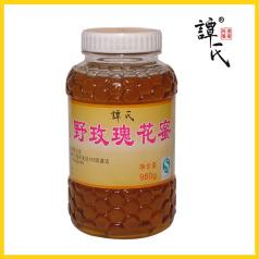 譚氏 980g野玫瑰花蜜 天然野生農家土蜂蜜