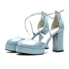 缪风 粗跟圆头女鞋511-97