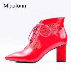缪风 时尚尖头高定职业女靴BH70-2
