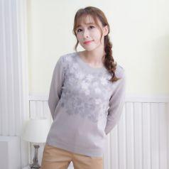 2017春季上新繁复时髦毛衣圆领女温馨百搭 M-6086