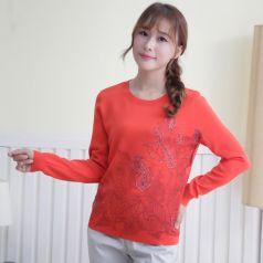 2017春季上新繁复时髦毛衣圆领女温馨百搭 M-6087