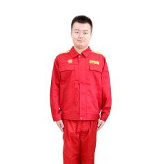 工衣 工作服套装 红色 衣服 XXL码