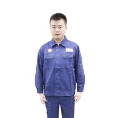 壳牌 男款车队工衣 蓝色套装 两件套 衣服