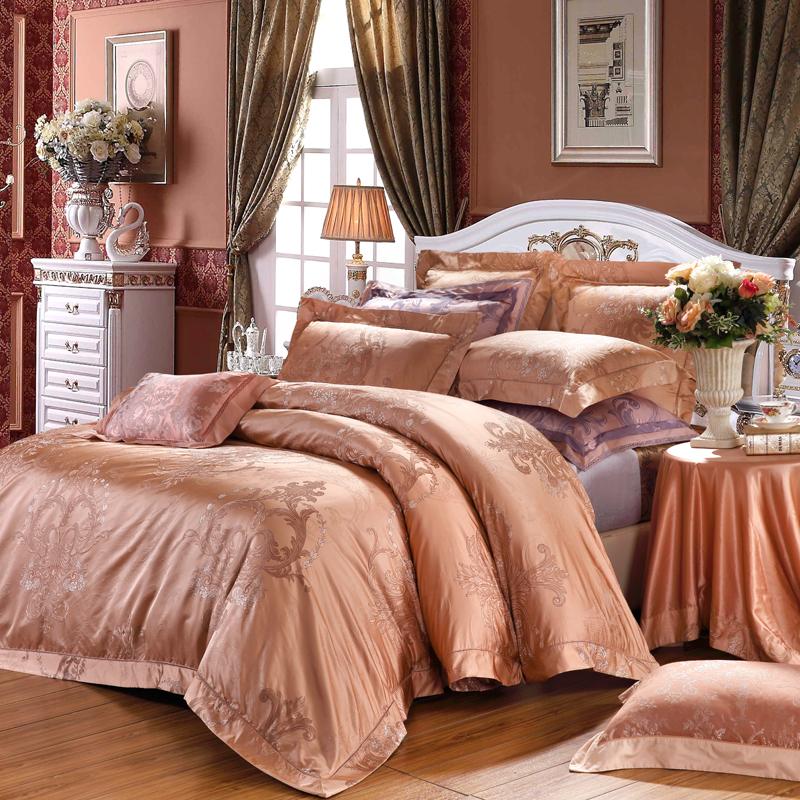 威尼斯之戀-真絲色織提花床單六件套