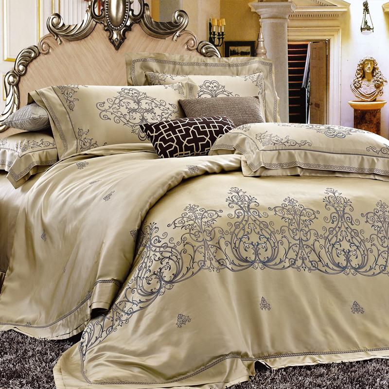 爵士印象-真絲色織提花床單六件套