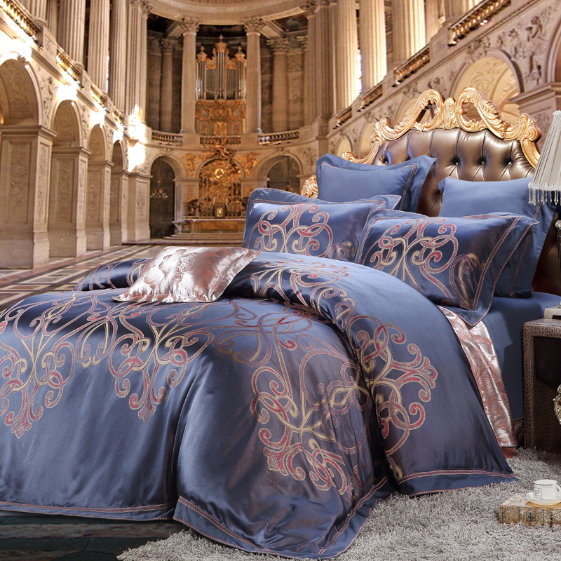 莫狄尼-真絲提花床單六件套