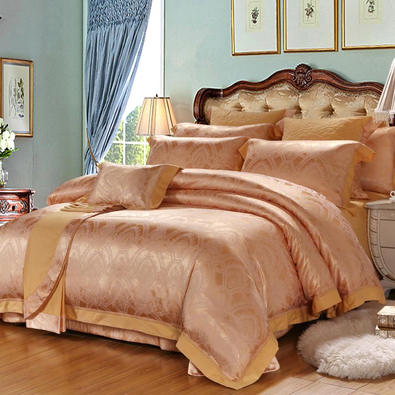 塞麗娜-絲棉提花床蓋六件套