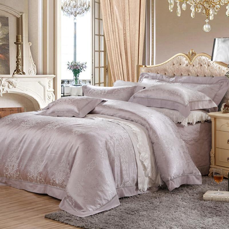 歐羅盛典-絲棉提花床蓋四件套