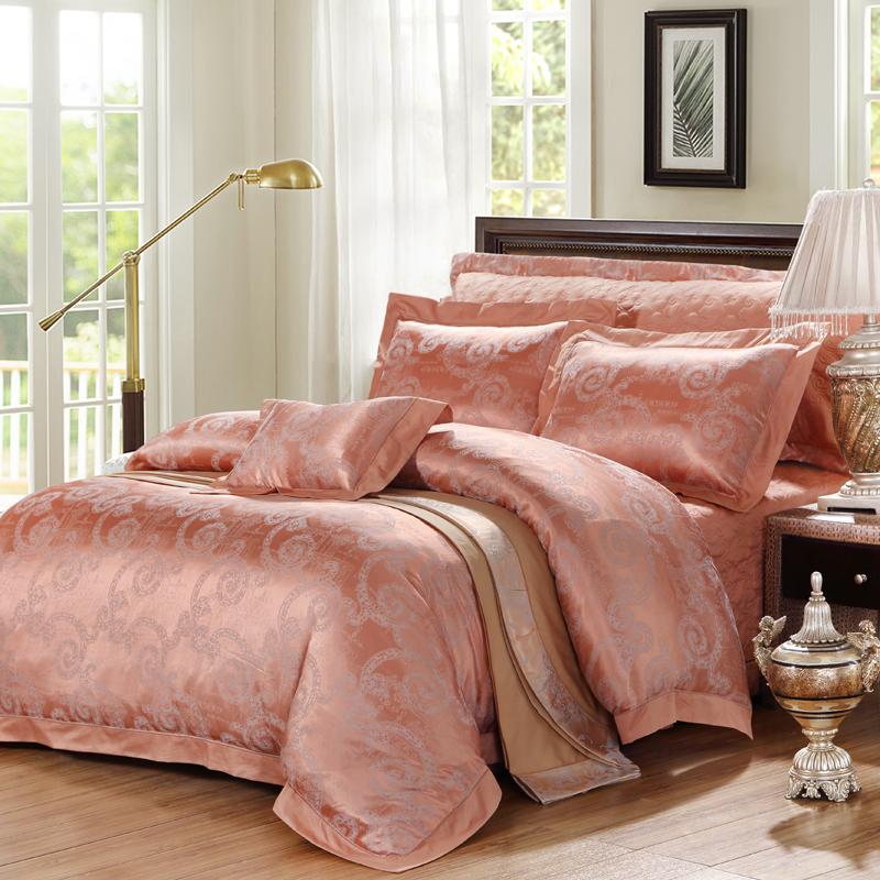 纏綿-莫代爾提花床蓋四件套