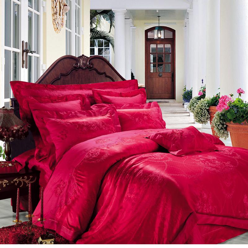 圣安娜-絲棉提花床蓋六件套