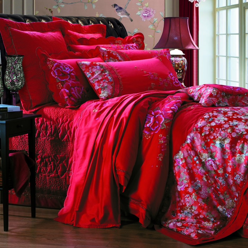 盛世牡丹-床蓋六件套