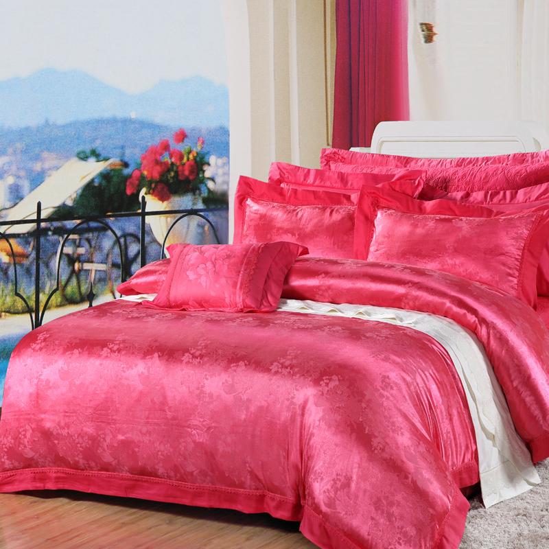 雅韻-絲棉提花床蓋六件套