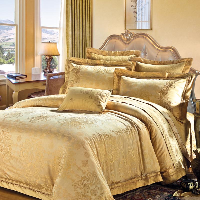 皇庭麗影-仿真絲提花床蓋六件套