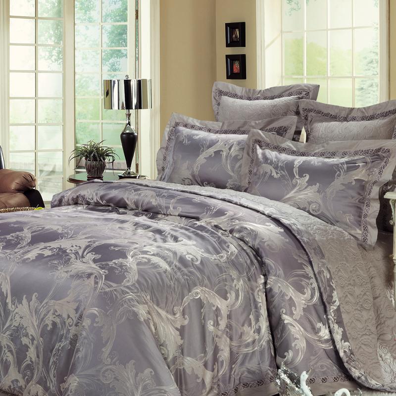 愛倫斯特-仿絲棉提花床蓋四件套