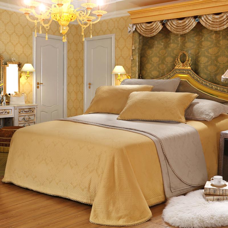 夜色如曲(黃色)-全棉百搭床蓋三件套