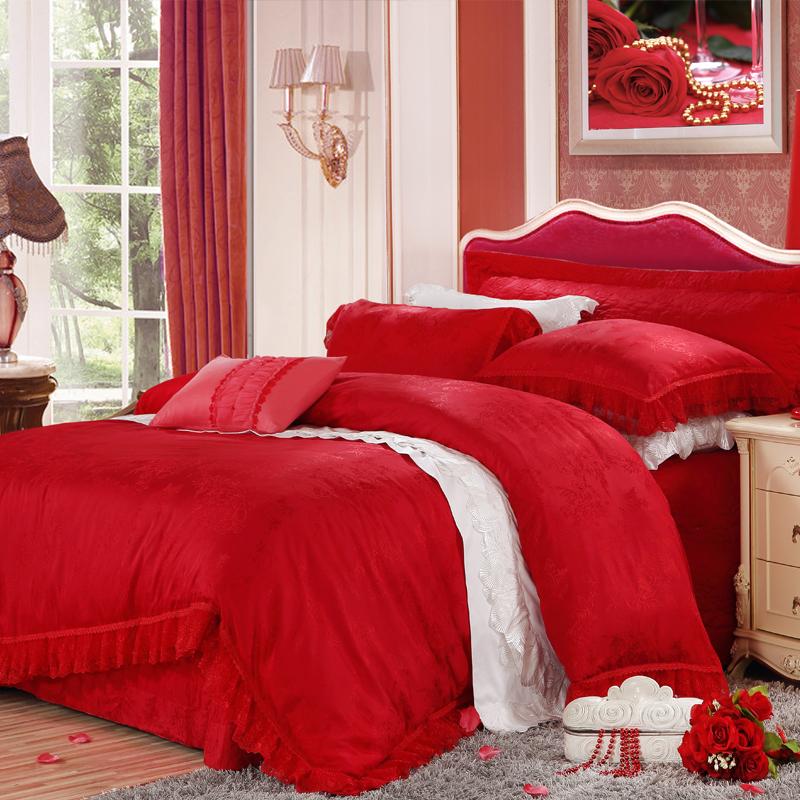 寫意人生(花邊款)-仿絲棉提花床蓋五件套