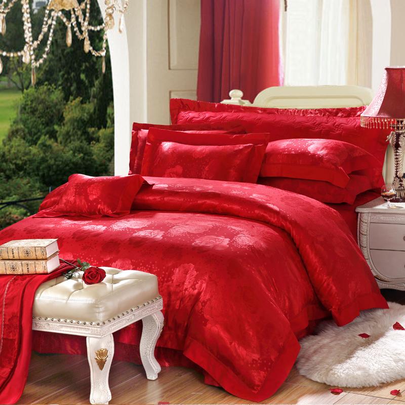 愛相隨-絲棉提花床蓋六件套