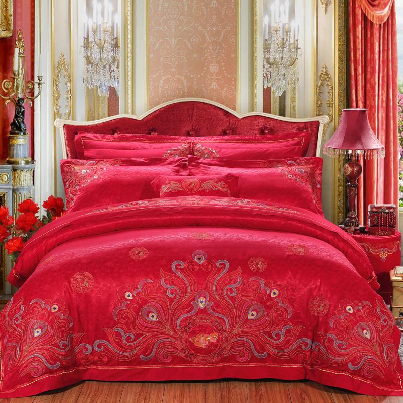 愛的諾言-絲棉提花床蓋八件套