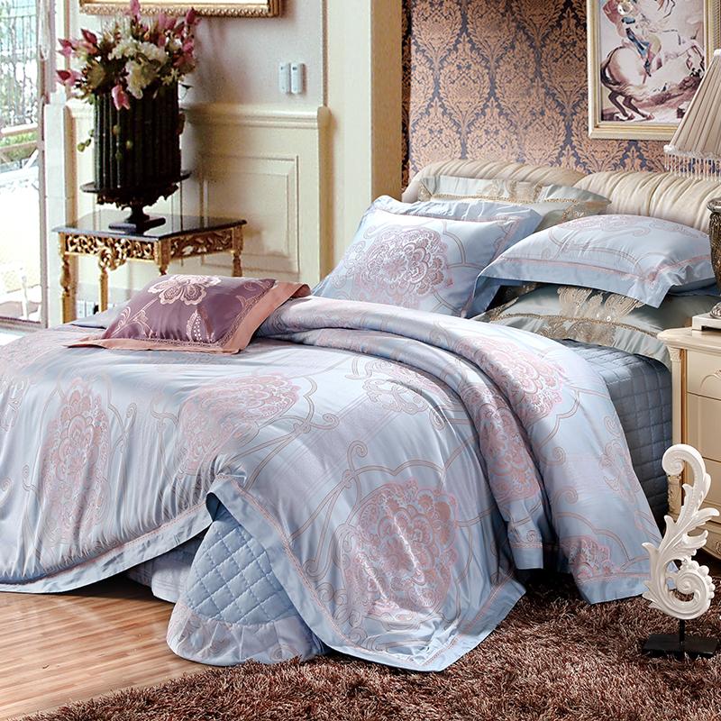 絲棉色織提花床蓋四件套(艾吉爾)