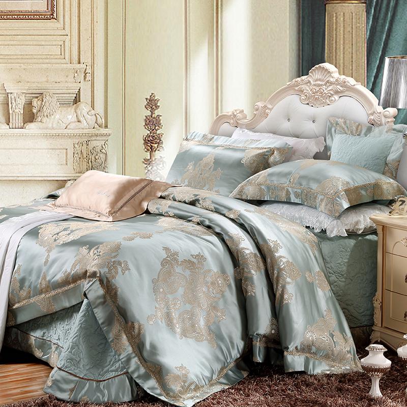 色織提花床蓋六件套(寫意華庭)