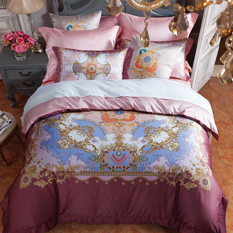 頂級棉錦印花床蓋四件套(索菲亞公主)