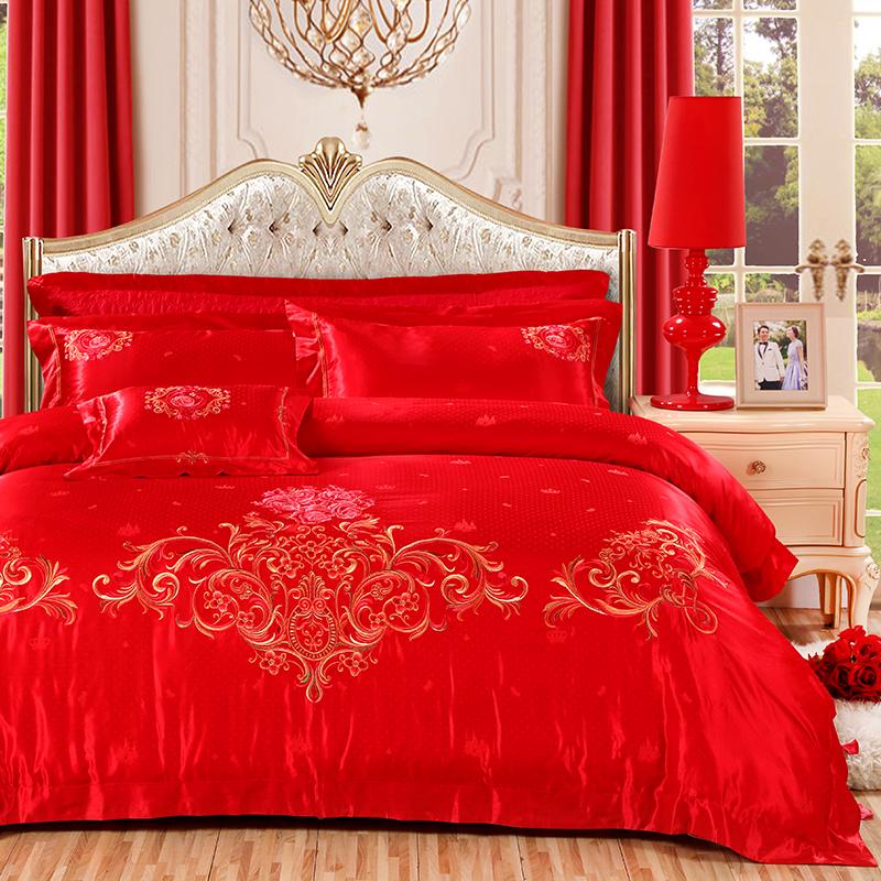 絲棉提花床蓋六件套(錦繡前程)