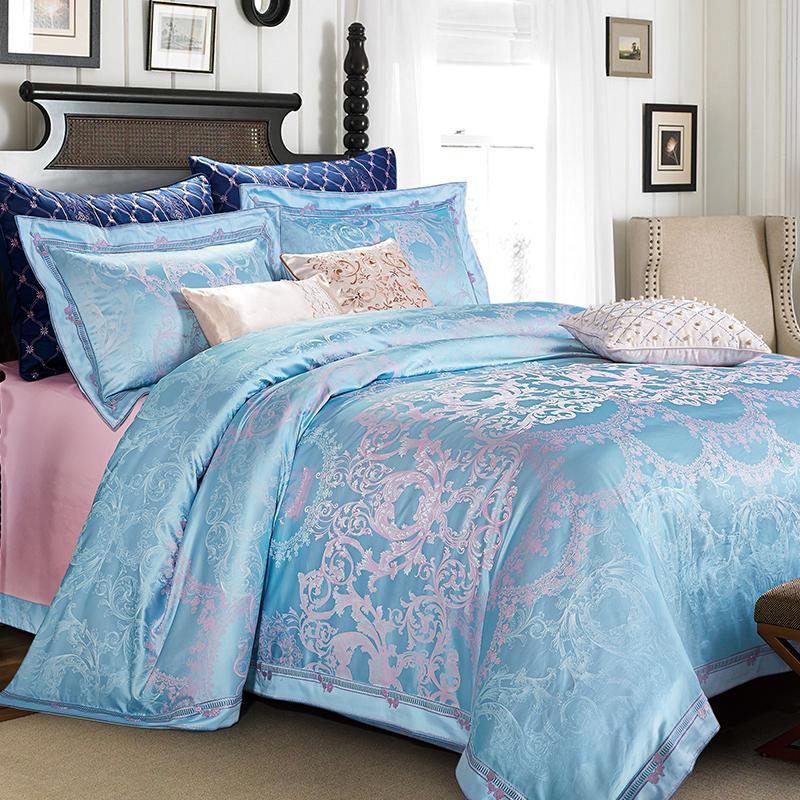 嬋絲+色織提花床蓋六件套(奧維斯)