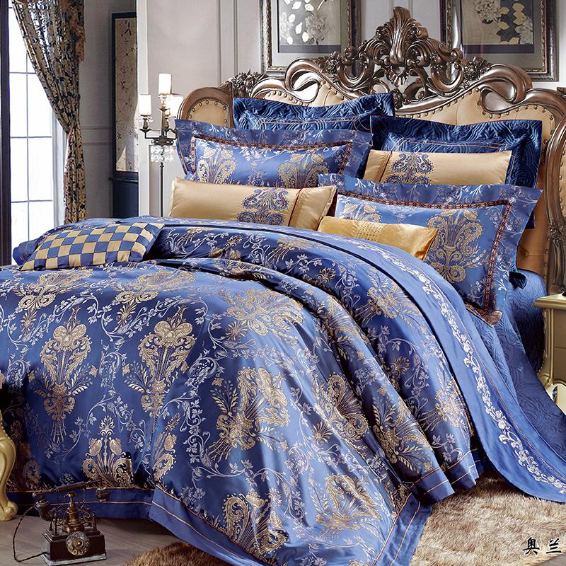 仿真絲提花床蓋八件套(奧蘭蒂)