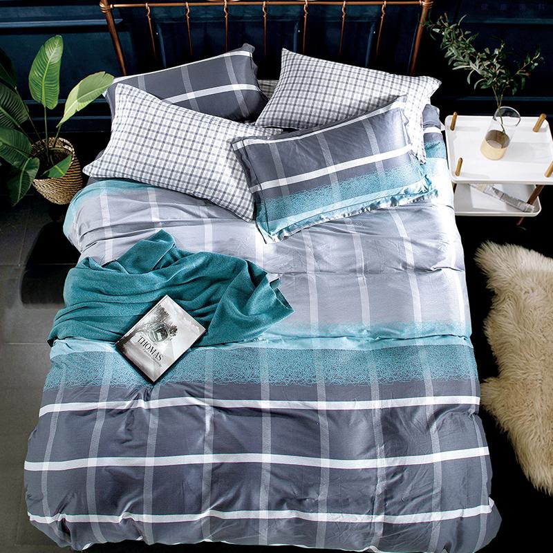 柔絲緞印花床蓋四件套(格爾尼斯)