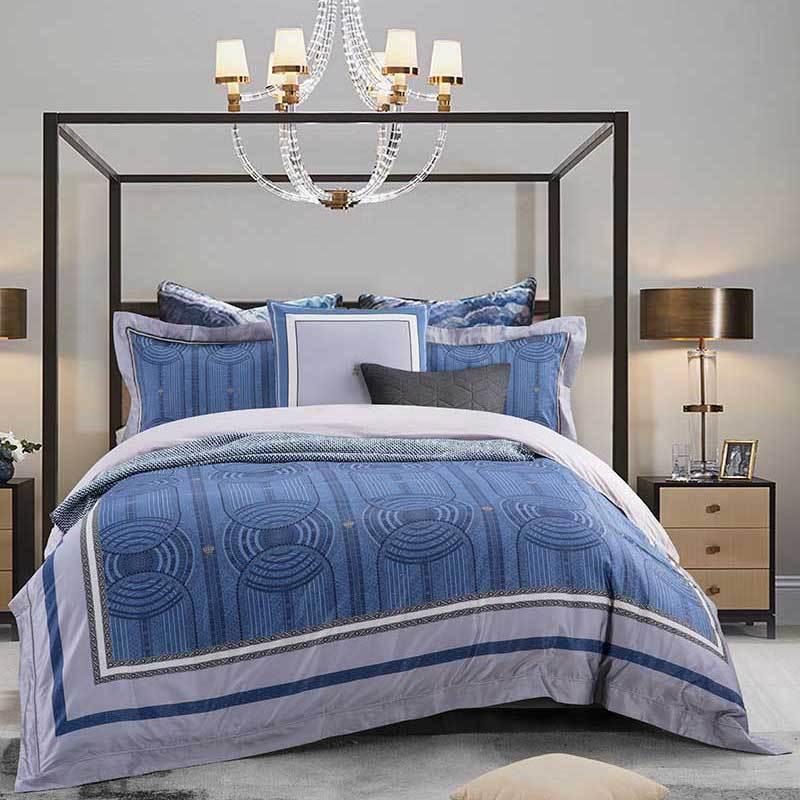 頂級棉錦印花床蓋五件套(羅瑞爾)