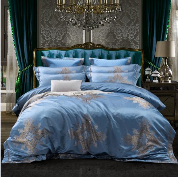 色織提花床蓋六件套-威爾士