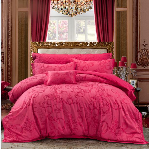 絲棉提花床蓋六件套-一戀傾城